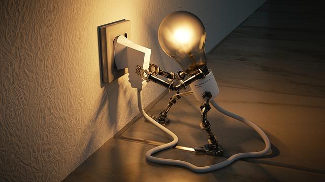 žárovka s ručičkami