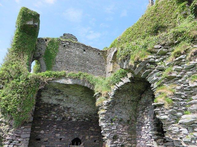 zarostlý hrad